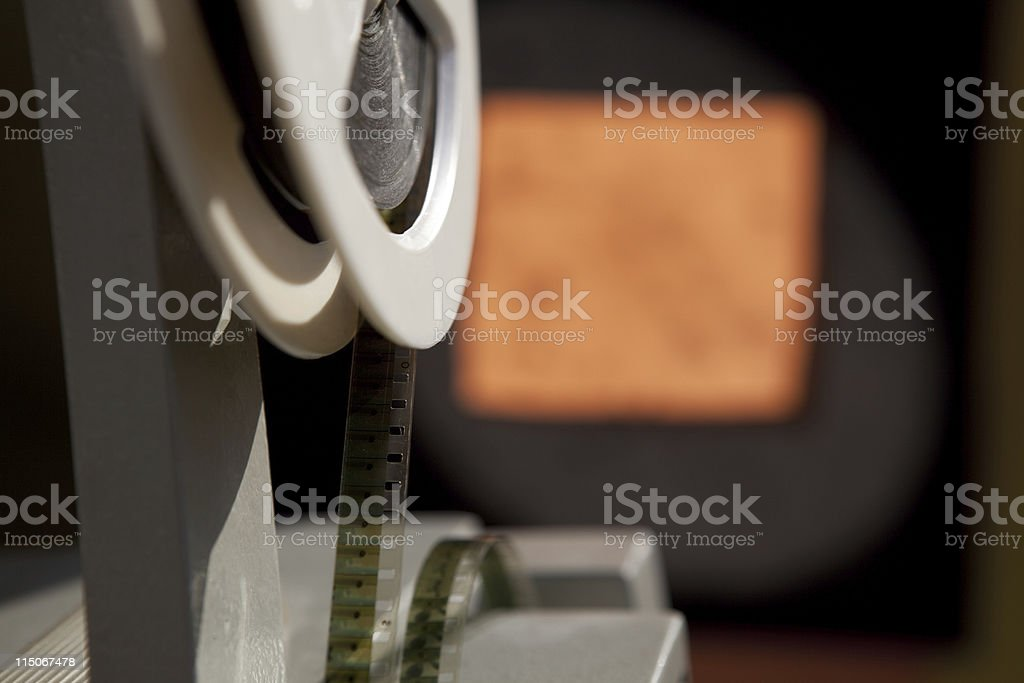 8mm Film Projector stock photo