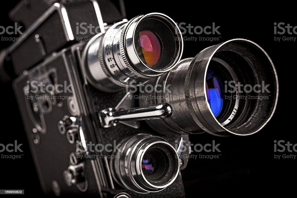 8mm Handheld Motion Picture Camera royalty-free stock photo