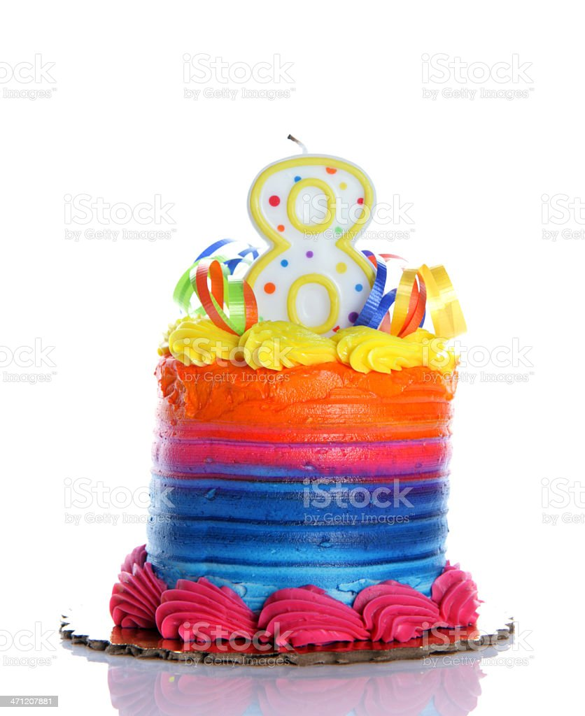 8th Birthday Cake Stock Photo More Pictures Of Aging Process Istock