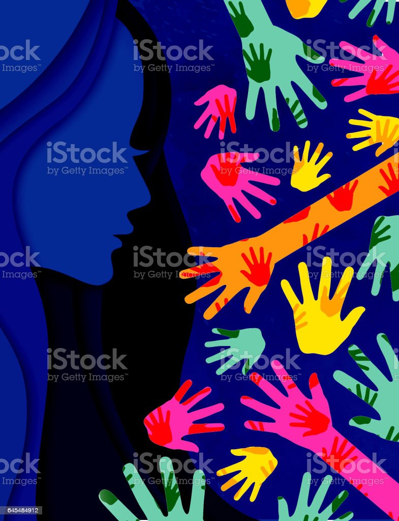8th March Woman's day stock photo