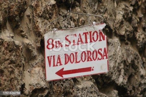 istock 8th Station of the Cross, Via Dolorosa 1251636259