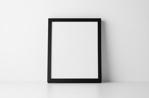 8x10 Black Frame Mock-Up - Portrait