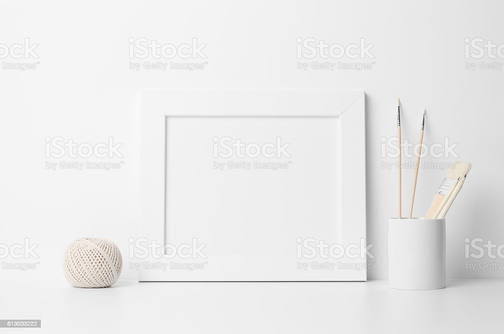 8x10 Frame Mock-Up - Landscape stock photo