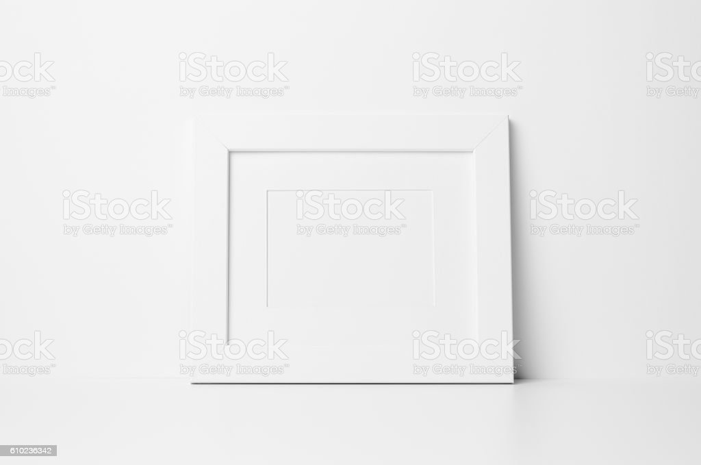 8x10 Frame Mockup Landscape With Mat Stock Photo & More Pictures of ...