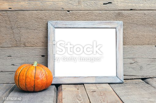istock 8x10 horizontal wooden frame mockup, rustic style 1127523142
