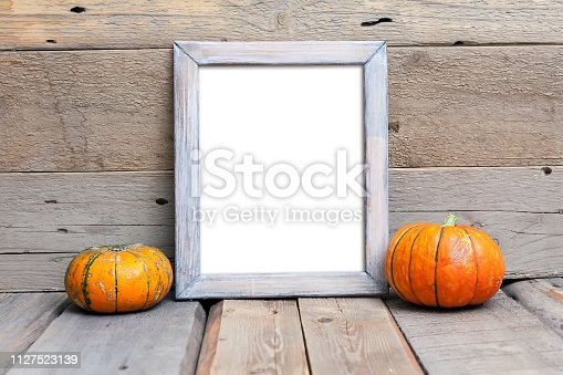 istock 8x10 vertical wooden frame mockup, rustic style 1127523139
