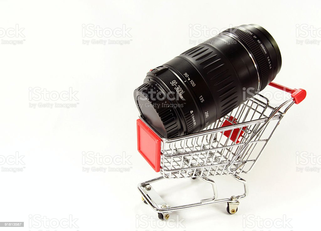 90-300mm zoom lens royalty-free stock photo