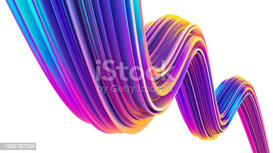 1007273724 istock photo 90s style holographic ultra violet fluid 3D shape for Christmas backgrounds 1030787204
