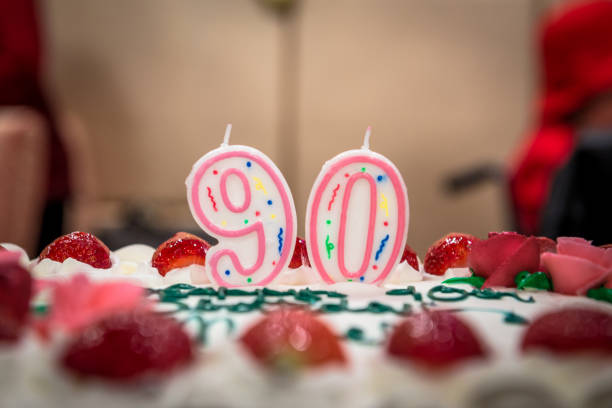 90th Birthday stock photo