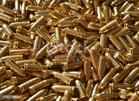 1043434568 istock photo 9mm Bullet Ammunition Luger 174077869