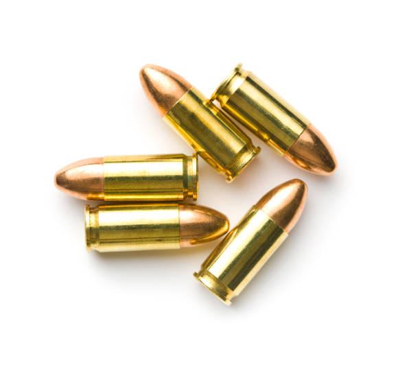 9mm pistol bullet - proiettile foto e immagini stock