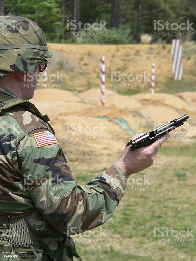 9mm Range royalty-free stock photo