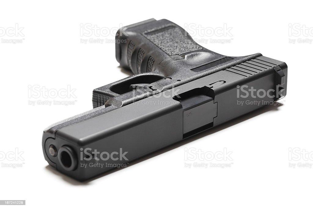 9mm semi-automatic pistol stock photo