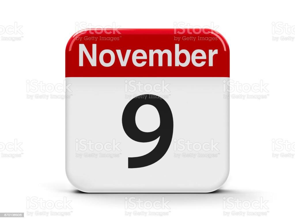 9th November stock photo