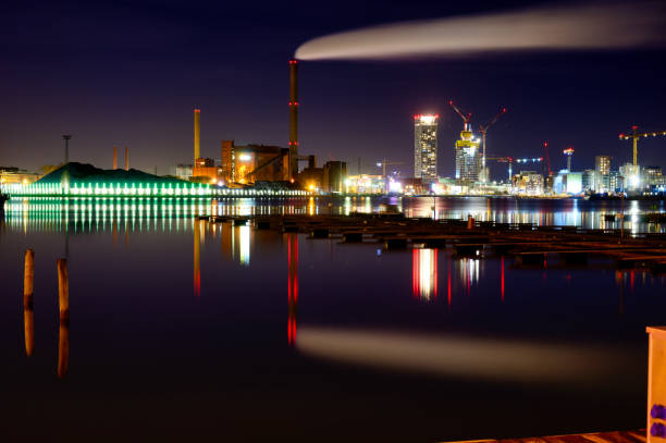 a beautiful cityscape of a modern city stock photo
