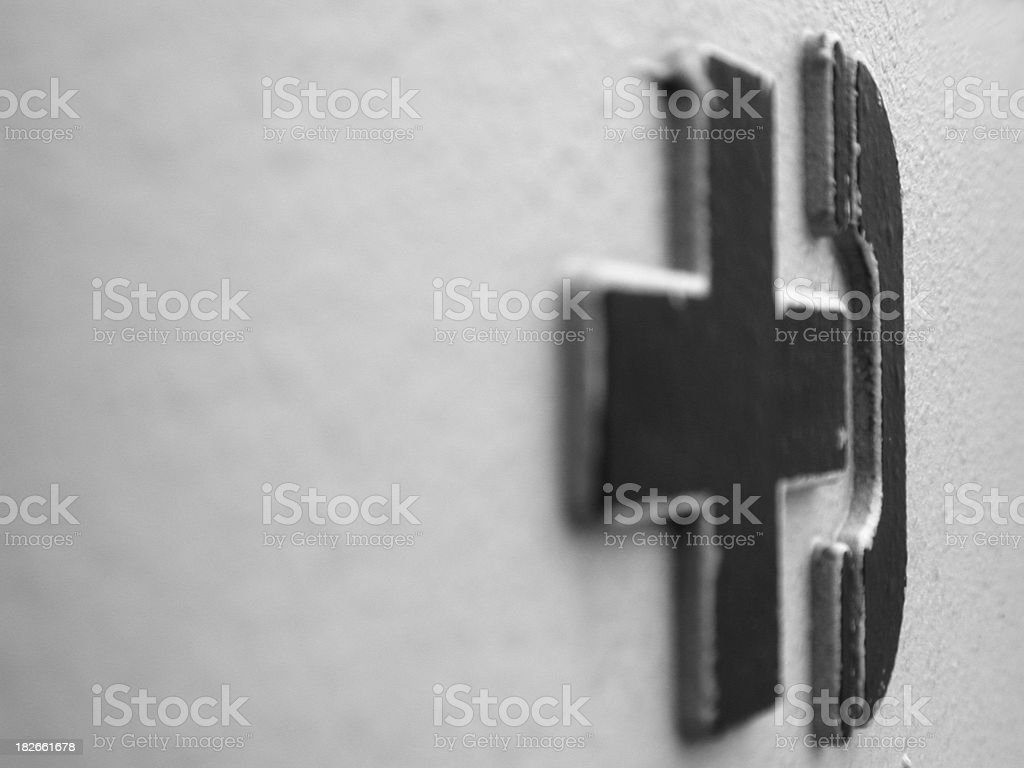 a black and white call sign stock photo