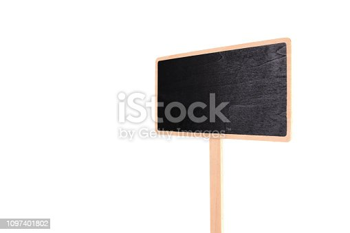 923869178 istock photo a blank blackboard label isolated on a white background 1097401802