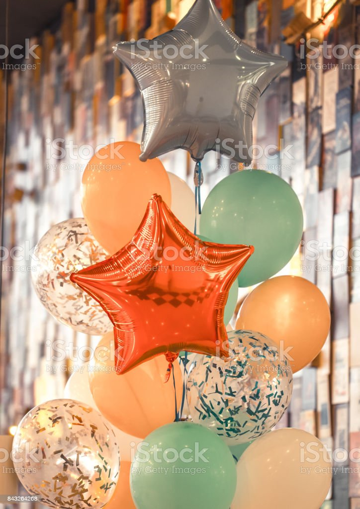 a bunch of balloons stock photo