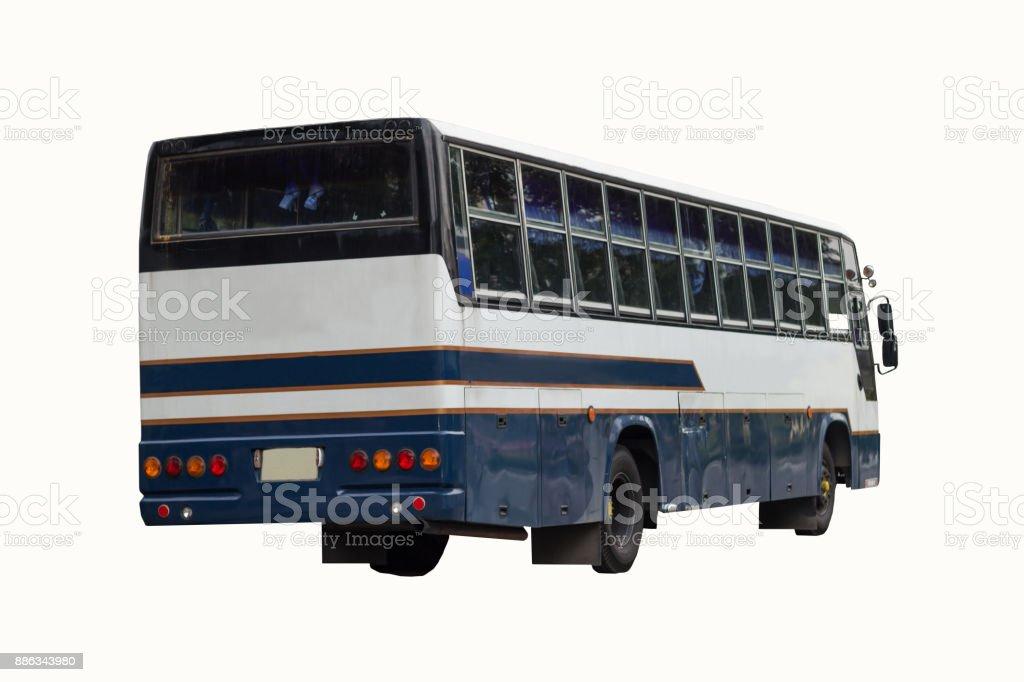 a bus on white background stock photo