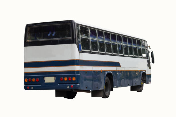 a bus on white background stock photo