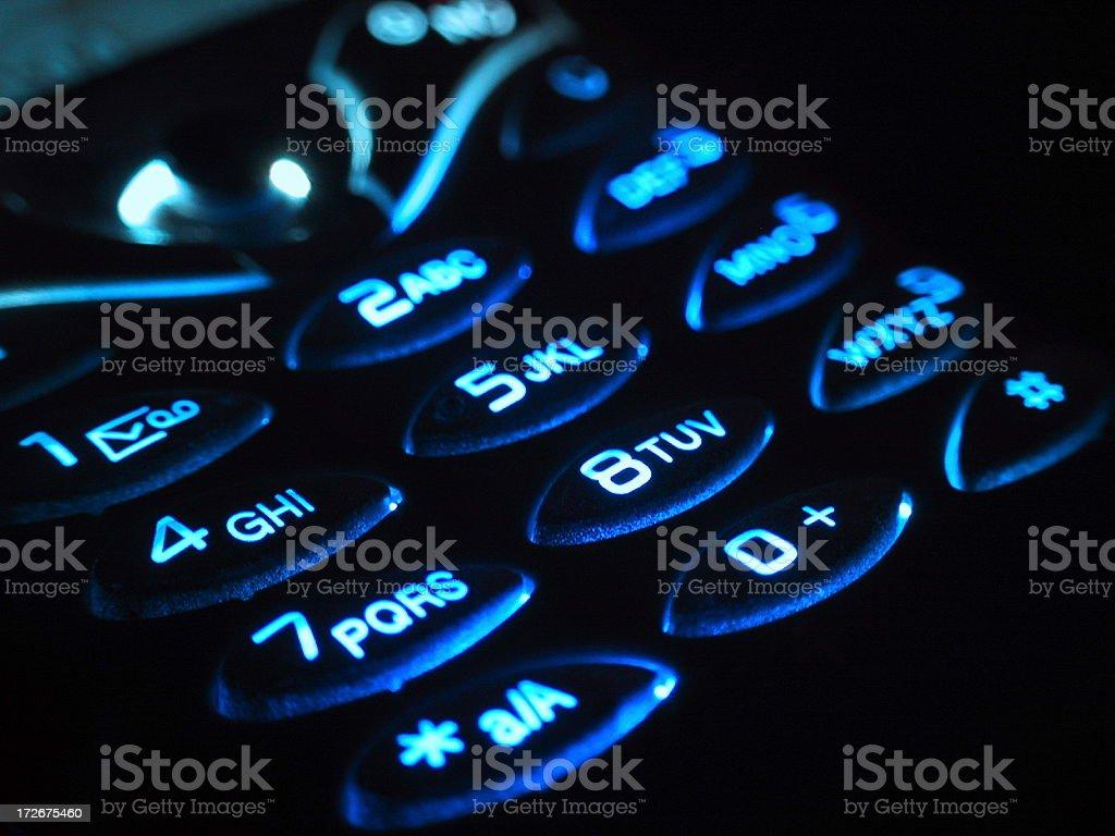Foto De Um Teclado Do Telefone Celular Noite E Mais Fotos De Stock