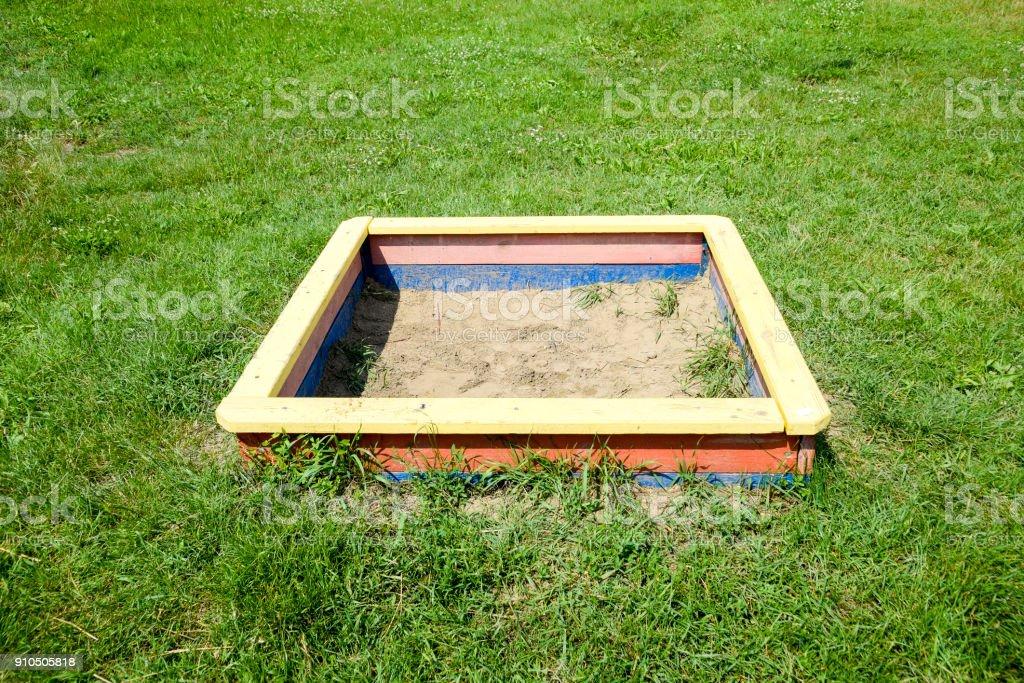 a Children's sandbox. stock photo