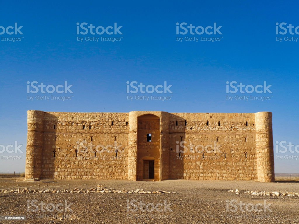 a church in the jordan dessert stock photo