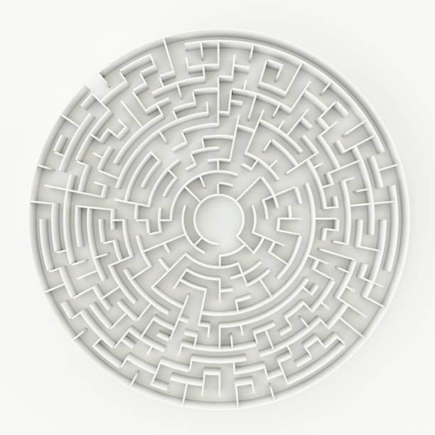 a circle maze stock photo