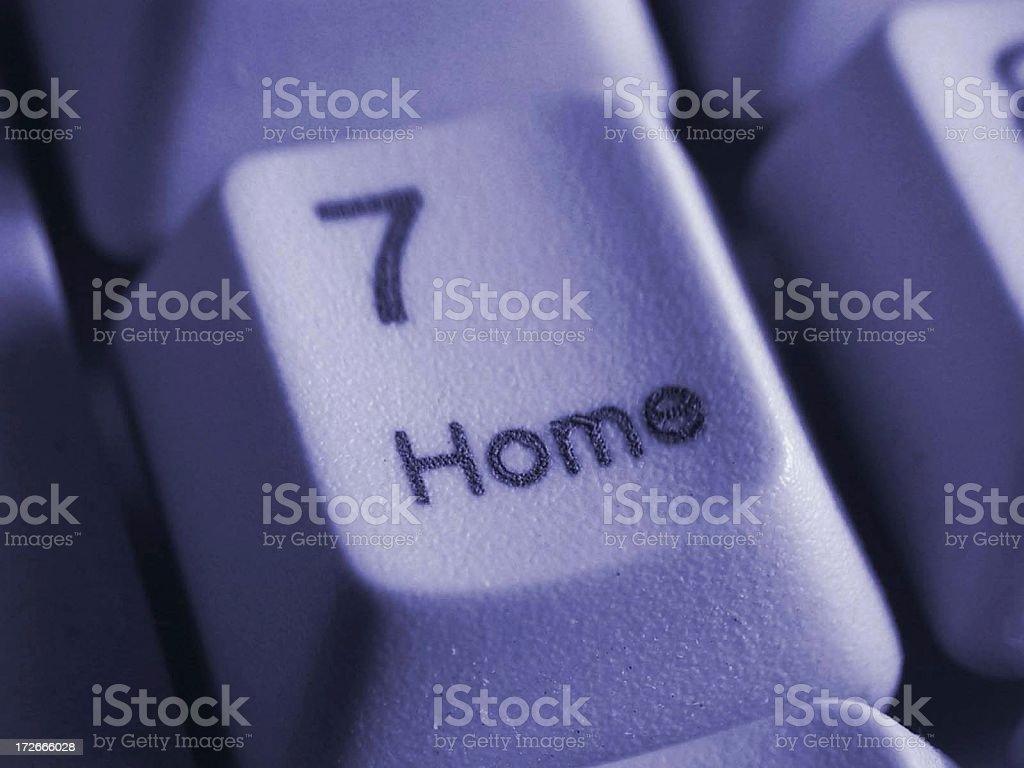 a closeup of a Keypad, seven - home royalty-free stock photo