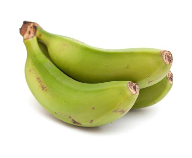 녹색 바나나 클러스터 - 플렌틴 바나나 뉴스 사진 이미지