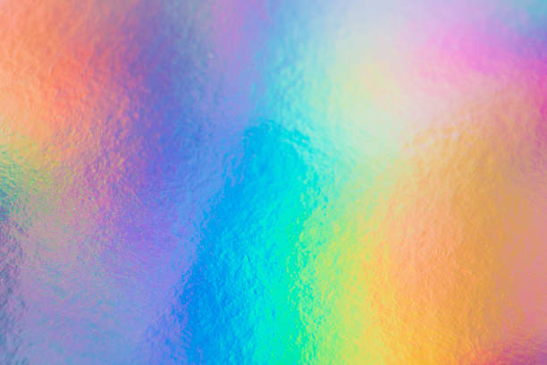 a colorful hologram paper - hologram imagens e fotografias de stock