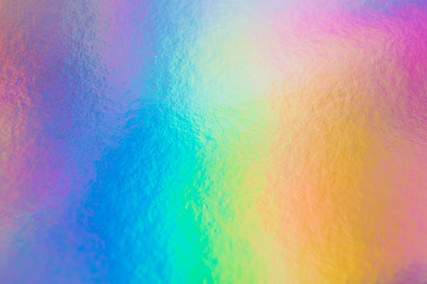 a colorful hologram paper - hologram stock photos and pictures