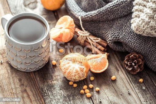 istock a cozy Christmas tea Cup still life 859424968