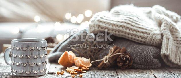 istock a cozy Christmas tea Cup still life 862026872