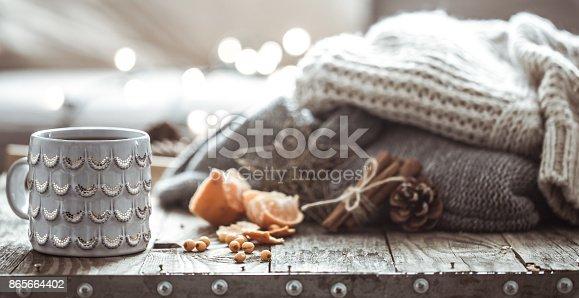 istock a cozy Christmas tea Cup still life 865664402