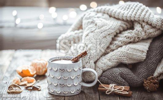 istock a cozy Christmas tea Cup still life 865664416