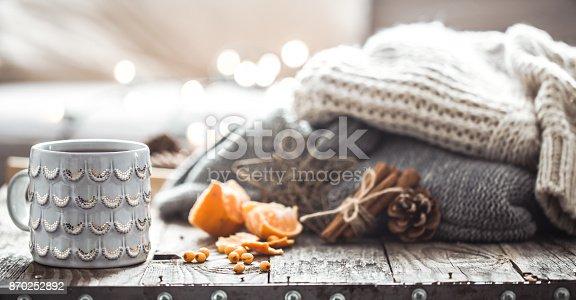 istock a cozy Christmas tea Cup still life 870252892