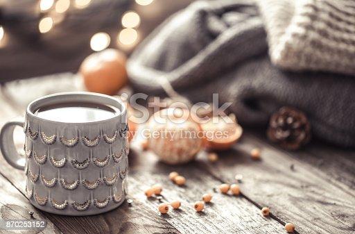 istock a cozy Christmas tea Cup still life 870253152
