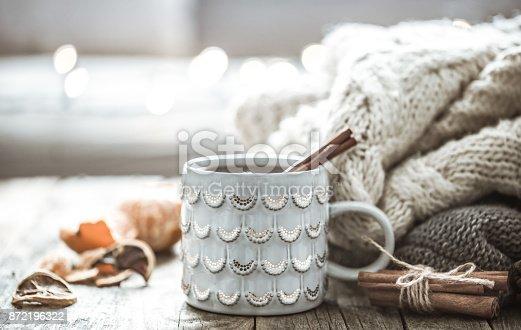 istock a cozy Christmas tea Cup still life 872196322