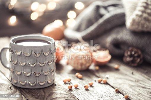istock a cozy Christmas tea Cup still life 872196346