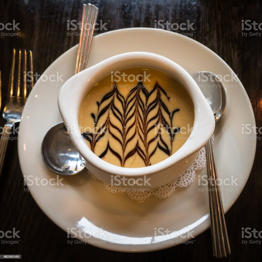 a cup of delicious picturesque soup royalty-free stock photo