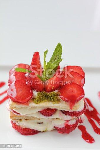 istock a delicious fresh strawberry dessert 1218340489