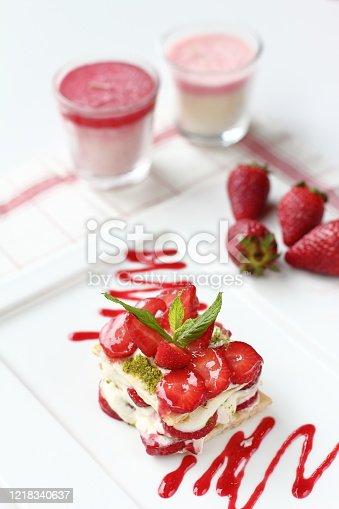 istock a delicious fresh strawberry dessert 1218340637
