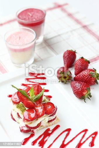 istock a delicious fresh strawberry dessert 1218341162