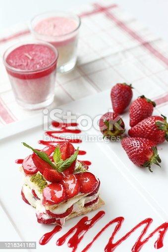 istock a delicious fresh strawberry dessert 1218341188
