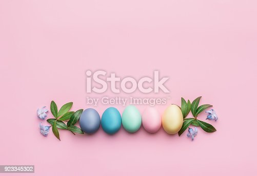 istock a festive Easter composition. view from above. concept of the spring and the feast of the Passover 923345302