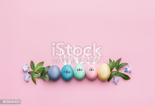 istock a festive Easter composition. view from above. concept of the spring and the feast of the Passover 923345424