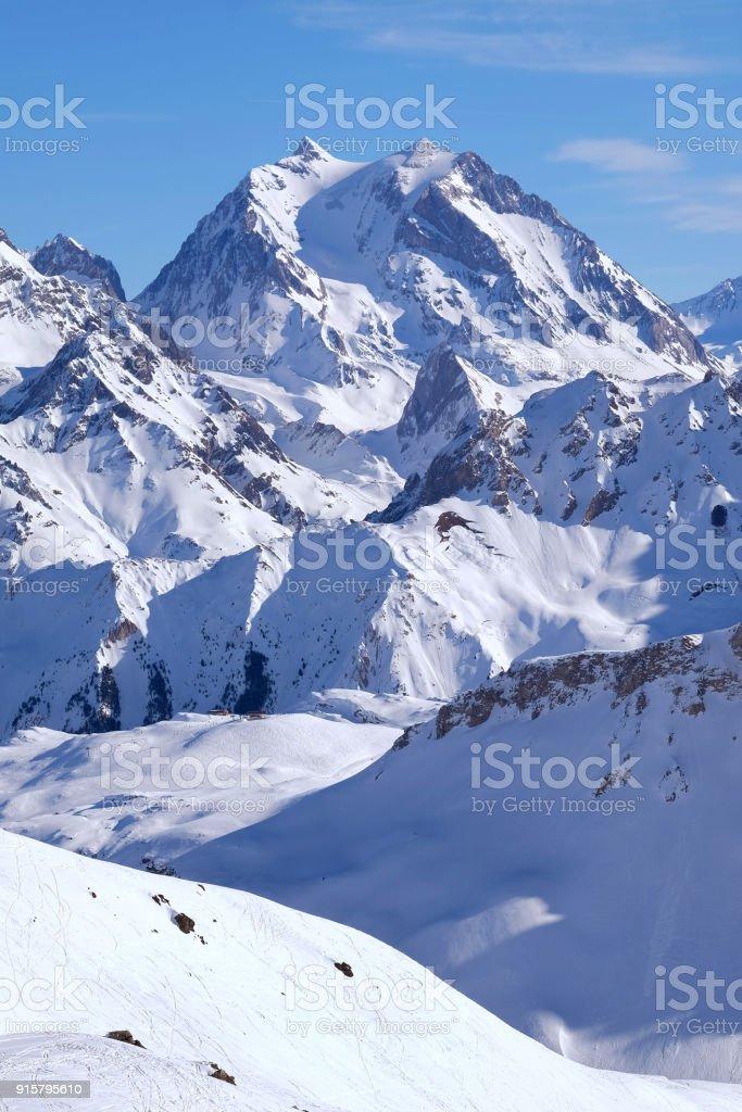 a french alpine peak stock photo