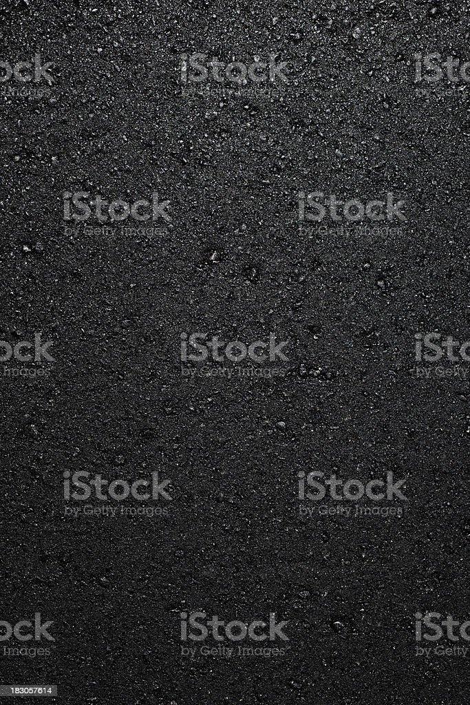 a fresh layer of new hot asphalt stock photo