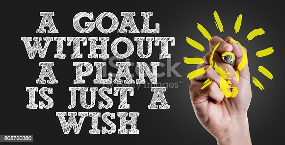 istock a Goal without a Plan is Just a Wish 808760380